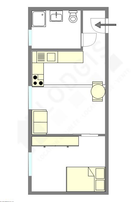 Apartment Seine st-denis Est - Interactive plan