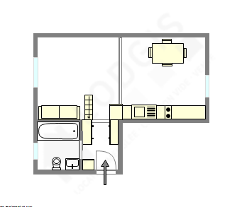 公寓 巴黎1区 - 平面图