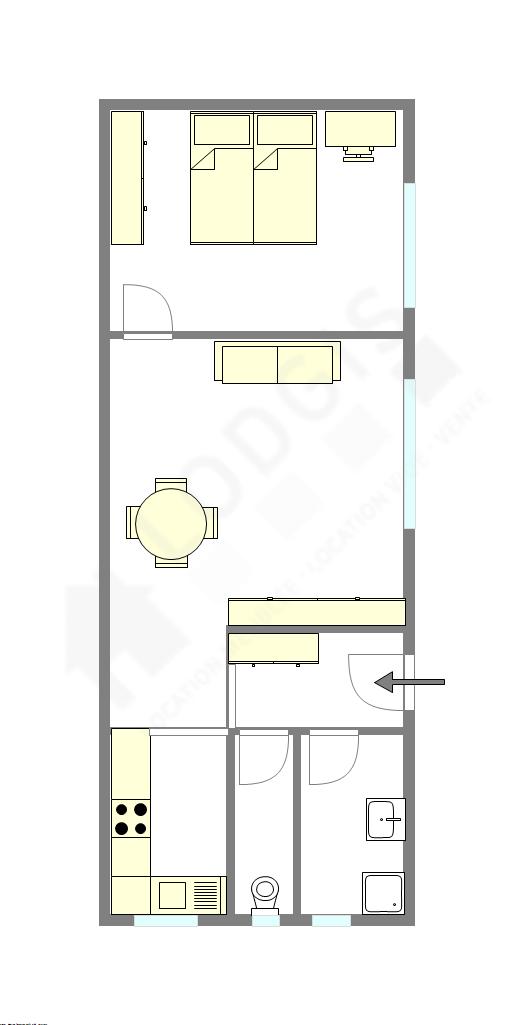 公寓 巴黎12区 - 互動圖