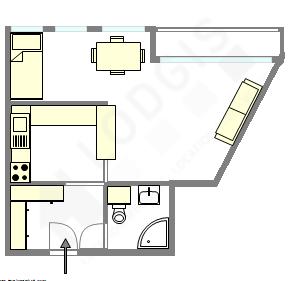 公寓 巴黎14区 - 平面图