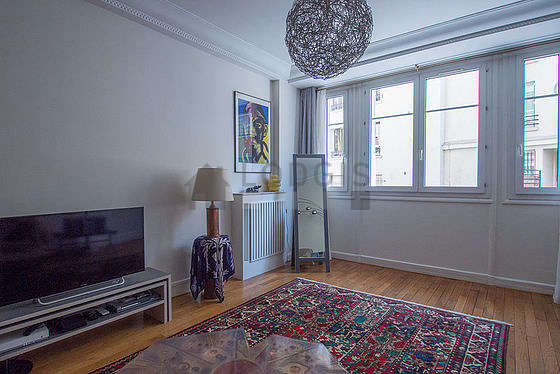 Living room furnished with tv