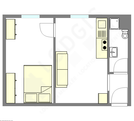 Apartment Paris 19° - Interactive plan