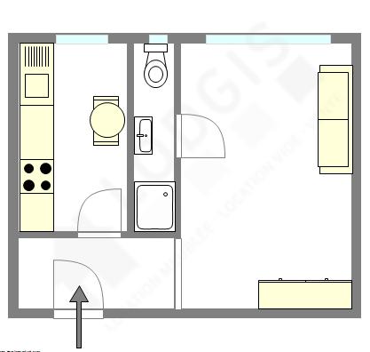 Appartamento Parigi 20° - Piantina interattiva