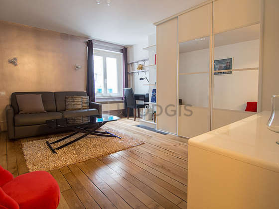 Quiet living room furnished with 1 sofabed(s) of 180cm, tv, 1 armchair(s)