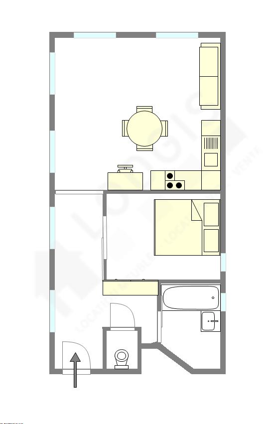 Apartamento Paris 2° - Plano interativo