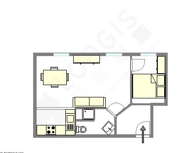 公寓 巴黎18区 - 平面图