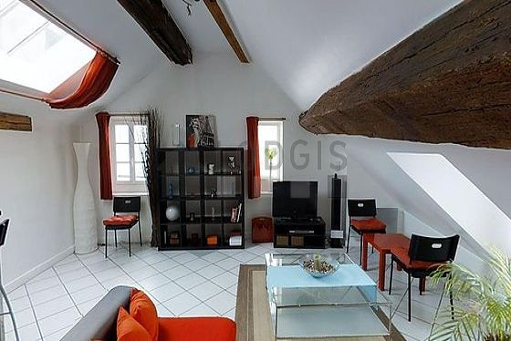 Very quiet living room furnished with 1 sofabed(s) of 140cm, tv, 1 armchair(s), 1 chair(s)