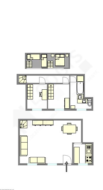 Duplex Paris 15° - Interactive plan