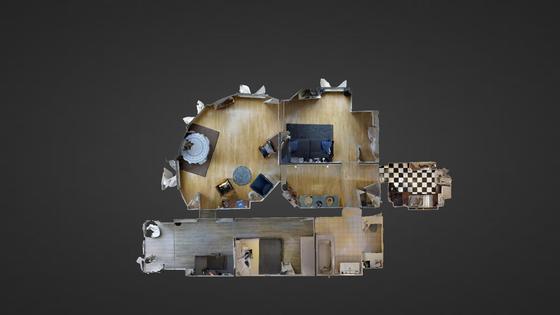 Apartment Paris 1° - Interactive plan