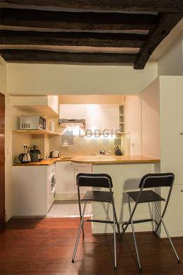 Magnifique cuisine de 2m² avec du carrelageau sol