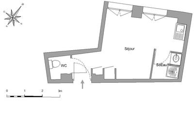 公寓 巴黎9区 - 平面图