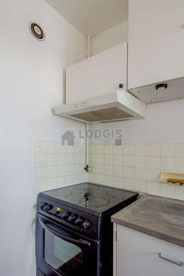 Kitchen equipped with washing machine, freezer