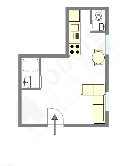 Wohnung Val de marne est - Interaktiven Plan