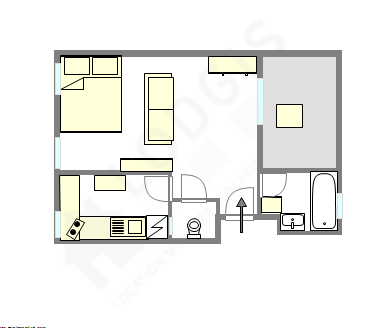 Apartment Paris 13° - Interactive plan