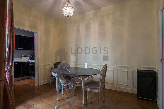 Dining room equipped with dining table, 2 chair(s)