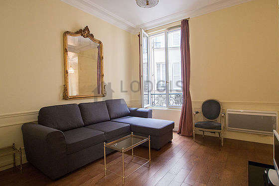Séjour calme équipé de 1 canapé(s) lit(s) de 140cm, télé, 1 fauteuil(s)