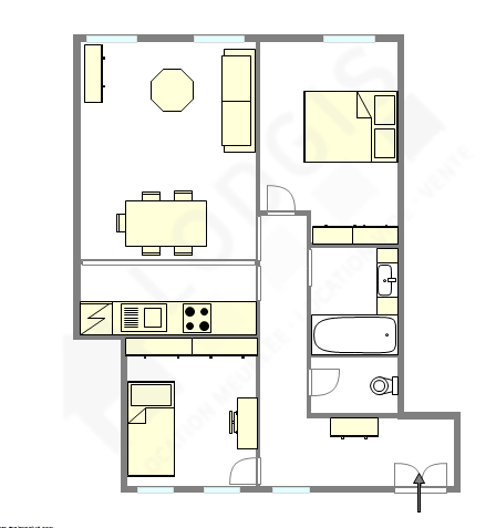 Wohnung Paris 1° - Interaktiven Plan