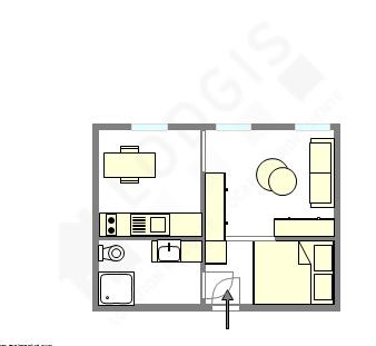 Wohnung Paris 11° - Interaktiven Plan