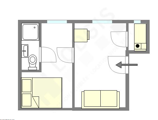 Apartamento París 14° - Plano interactivo