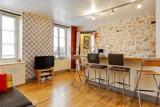 Le Marais Париж Paris 3° 1 спальня Квартира