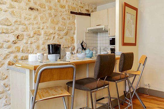 Magnifique cuisine avec du carrelageau sol
