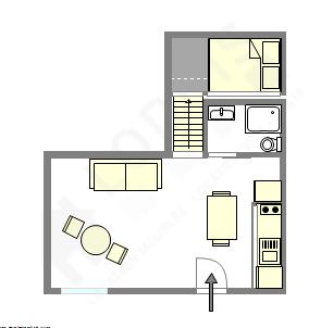 顶楼公寓 巴黎5区 - 平面图