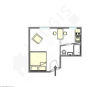 Apartamento Paris 10° - Plano interativo
