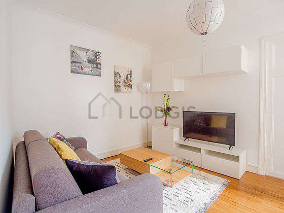 Very quiet living room furnished with 1 sofabed(s) of 140cm, tv, cupboard, 1 chair(s)