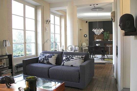 Living room with double-glazed windows