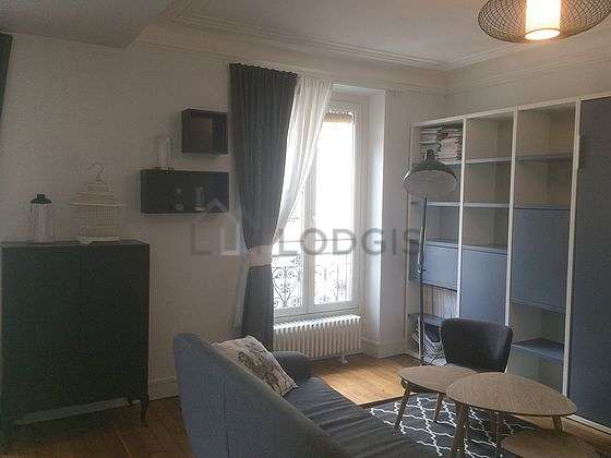 Very quiet living room furnished with 1 murphy bed(s) of 160cm, tv, 1 armchair(s)