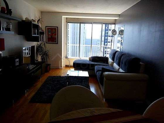 Living room furnished with tv, storage space, 4 chair(s)