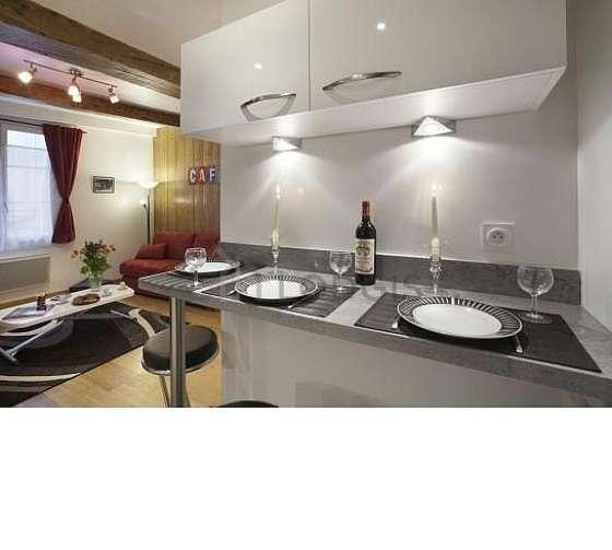 Belle cuisine de 5m² avec du carrelageau sol