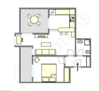 公寓 Hauts de seine - 互動圖