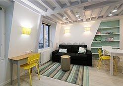 デュプレックス パリ 4区 - リビングルーム