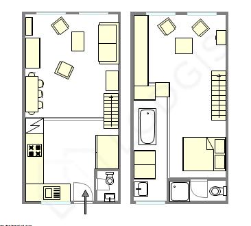 Apartamento París 1° - Plano interactivo