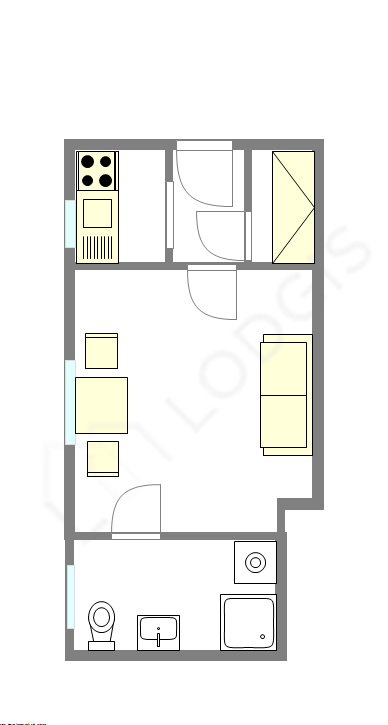 Appartamento Parigi 9° - Piantina interattiva