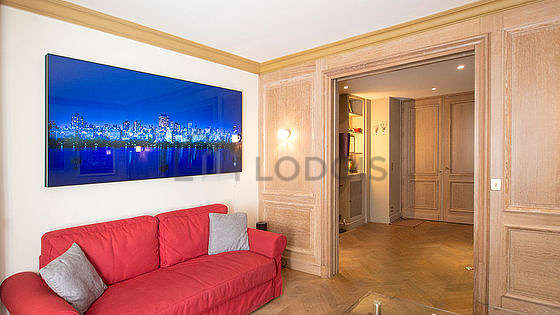 Great, quiet and bright sitting room of an apartmentin Paris