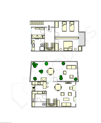 Duplex Hauts de seine - Interaktiven Plan