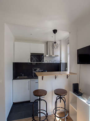 Bright kitchen facing the road