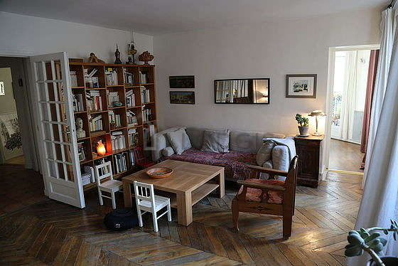 Living room with windows