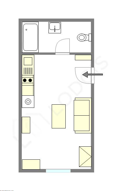 Wohnung Hauts de seine - Interaktiven Plan