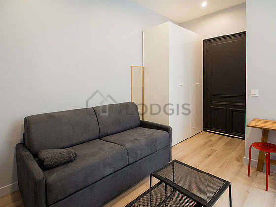 Very quiet living room furnished with 1 sofabed(s) of 140cm, tv, closet