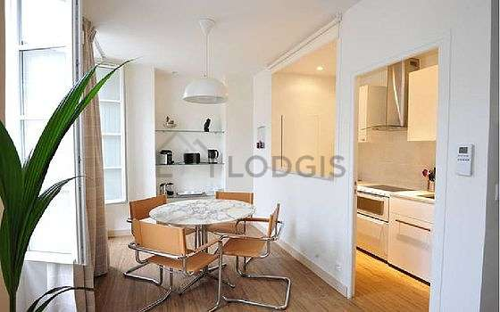 Magnifique cuisine de 4m² avec du parquetau sol