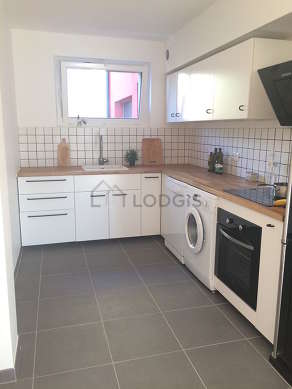 Beautiful kitchen of 12m² with tilefloor