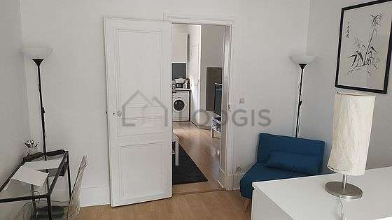 Very quiet bedroom for 3 persons equipped with 1 sofabed(s) of 80cm, 1 bed(s) of 140cm