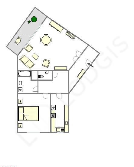 Apartment Haut de seine Nord - Interactive plan