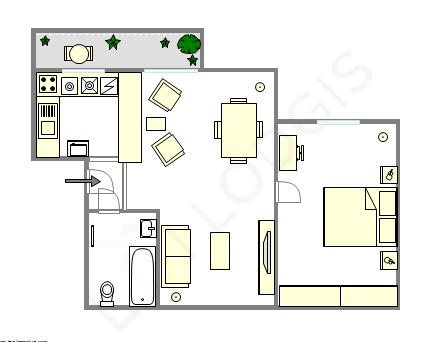 Apartamento Paris 12° - Plano interativo