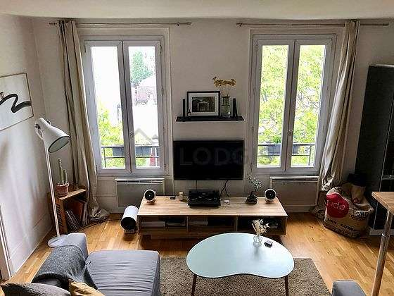 Very quiet living room furnished with 1 sofabed(s) of 160cm, tv, wardrobe, cupboard