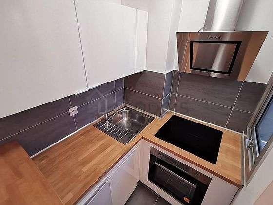 Kitchen equipped with washing machine, dryer, refrigerator, freezer