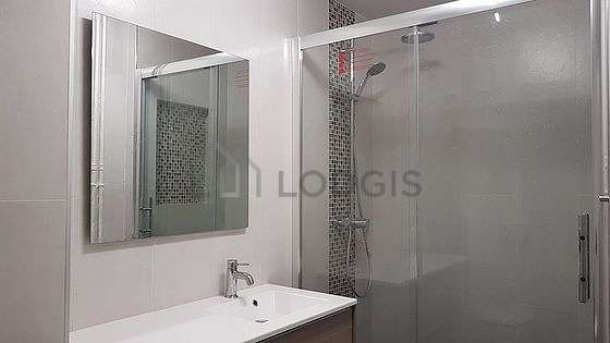 Bathroom equipped with wardrobe